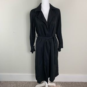 Long black trench cape  belted from GAP